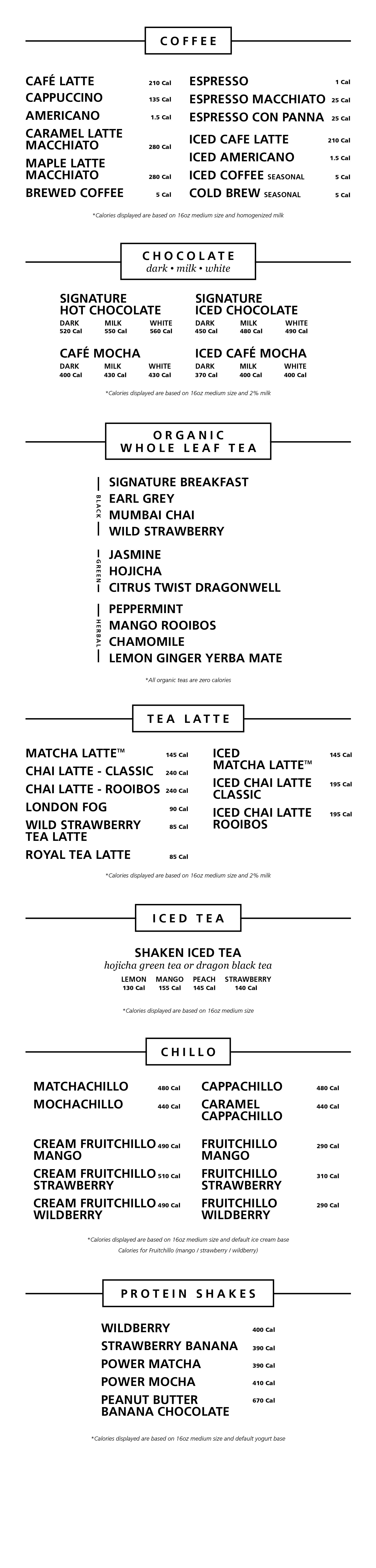 Blenz Coffee Beverages